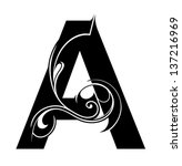decorative letter shape. font... | Shutterstock .eps vector #137216969