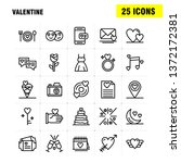 valentine line icons set for... | Shutterstock .eps vector #1372172381