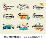 set of summer various... | Shutterstock .eps vector #1372200047