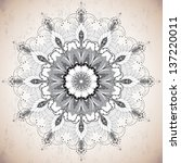 round lace pattern. floral ... | Shutterstock .eps vector #137220011