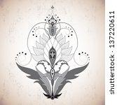 element oriental floral pattern ...   Shutterstock .eps vector #137220611