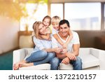 beautiful smiling family in... | Shutterstock . vector #1372210157