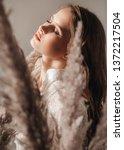portrait of beautiful young...   Shutterstock . vector #1372217504