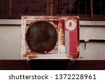 old air conditioner  old... | Shutterstock . vector #1372228961