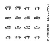 car icons set. line style. | Shutterstock .eps vector #1372229927