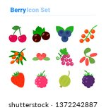berries icon set icon set of... | Shutterstock .eps vector #1372242887