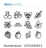 berries icon set of outline... | Shutterstock .eps vector #1372242911