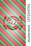 Unzip Christmas Emblem.