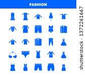 fashion solid glyph icons set...