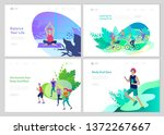 landing page template with... | Shutterstock .eps vector #1372267667