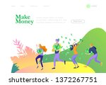 landing page template happy...   Shutterstock .eps vector #1372267751