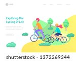 landing page template with... | Shutterstock .eps vector #1372269344