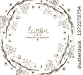 easter greeting card with... | Shutterstock .eps vector #1372273754