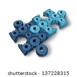 jigsaw puzzle connections...   Shutterstock . vector #137228315