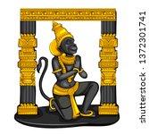vector design of vintage statue ... | Shutterstock .eps vector #1372301741