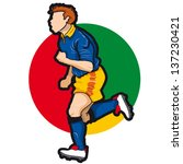 vector illustration of soccer... | Shutterstock .eps vector #137230421