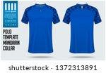 mandarin collar polo shirt... | Shutterstock .eps vector #1372313891