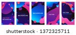vector set of abstract... | Shutterstock .eps vector #1372325711