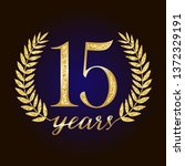 15 th years old anniversary... | Shutterstock .eps vector #1372329191