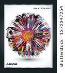 vibrant colored vector flower... | Shutterstock .eps vector #1372347254
