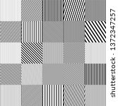 monochrome square mosaic... | Shutterstock .eps vector #1372347257