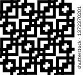 seamless geometric monochrome... | Shutterstock .eps vector #1372370201