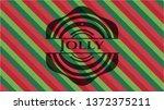 jolly christmas style badge..   Shutterstock .eps vector #1372375211