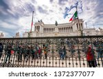 rome  italy   april 3  2019 ... | Shutterstock . vector #1372377077