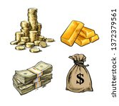 finance  money set. stack of...   Shutterstock .eps vector #1372379561