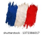 Vintage Flag Of France. Drawin...