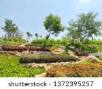 natural garden scenery look | Shutterstock . vector #1372395257