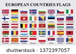 europe countries flags... | Shutterstock .eps vector #1372397057