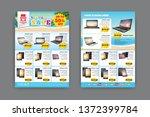 2 sides flyer template for...   Shutterstock .eps vector #1372399784