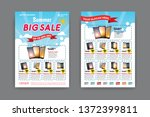 2 sides flyer template for... | Shutterstock .eps vector #1372399811