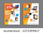 2 sides flyer template for... | Shutterstock .eps vector #1372399817