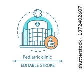 pediatric clinic concept icon.... | Shutterstock .eps vector #1372402607