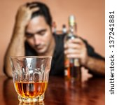 drunk and lonely latin man... | Shutterstock . vector #137241881