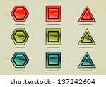 nine colorful different stones | Shutterstock .eps vector #137242604