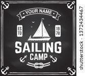 sailing camp badge. vector... | Shutterstock .eps vector #1372434467