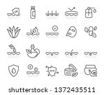 set of skin icons  such as... | Shutterstock .eps vector #1372435511