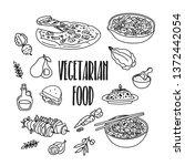 vegetarian  vegan  healthy food ... | Shutterstock .eps vector #1372442054