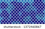 Blue Quatrefoil Background