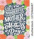 mother's day lettering for gift ... | Shutterstock .eps vector #1372466687