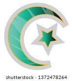 colorful muslim symbol of... | Shutterstock .eps vector #1372478264