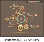infographic design template... | Shutterstock . vector #137247899