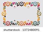 arabic arabesque design... | Shutterstock .eps vector #1372480091