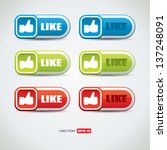 vector like button set