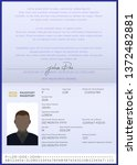 biometric passport of afro... | Shutterstock .eps vector #1372482881