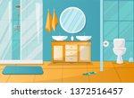 modern bathroom interior with... | Shutterstock . vector #1372516457