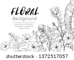 floral vector backgrounds with... | Shutterstock .eps vector #1372517057